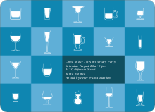 Party Glasses - Cadet Blue