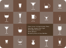 Party Glasses – the Ultimate Party Invitations - Chocolate