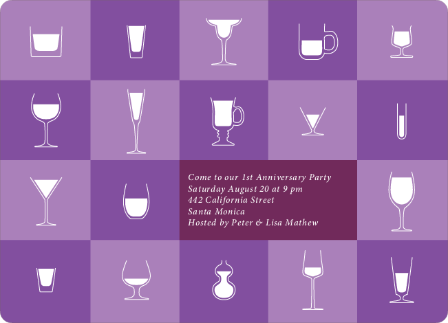Party Glasses – the Ultimate Party Invitations - Amethyst