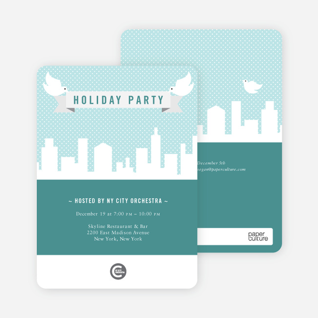 Party in the City Tonight - Teal