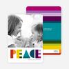 Peace: Holiday Photo Card - Multi