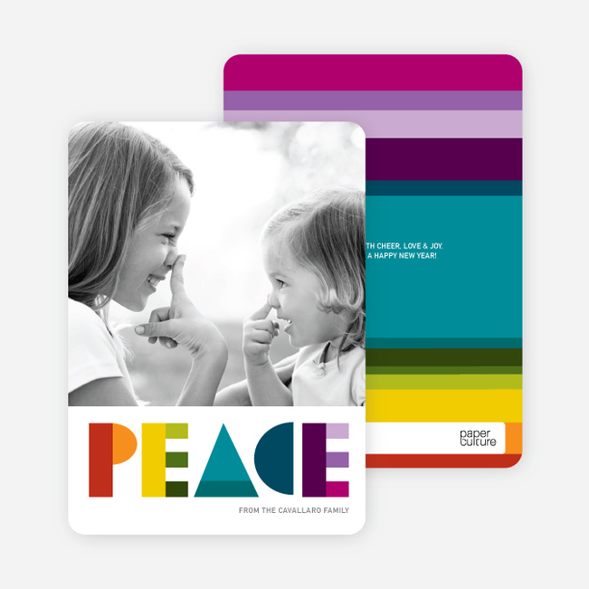 Peace: Holiday Photo Card - Multi