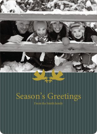 Peaceful Doves Deliver Season's Greetings - Dark Teal