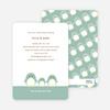 Penguin Family Baby Shower Invitations - Celadon