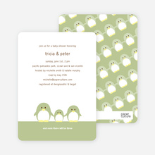 Penguin Family Baby Shower Invitations - Bamboo