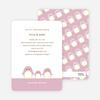 Penguin Family Baby Shower Invitations - Tea Rose