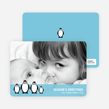 Penguin Family Holidays - Periwinkle Blue