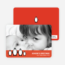 Penguin Family Holidays - Fire Engine Red