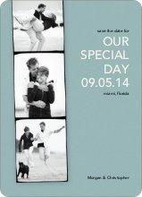 Photo Strip Save the Date Cards - Mystic Blue