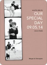 Photo Strip Save the Date Cards - Vintage Rose
