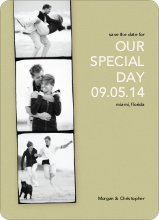 Photo Strip Save the Date Cards - Celadon