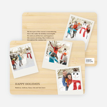 Polaroid Collection Holiday Photo Cards - Champagne