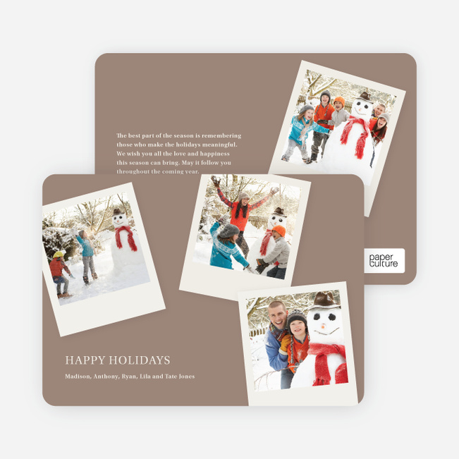 Polaroid Collection Holiday Photo Cards - Oatmeal