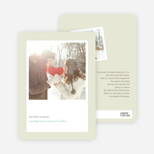 Instant Memories Holiday Photo Cards - Basil