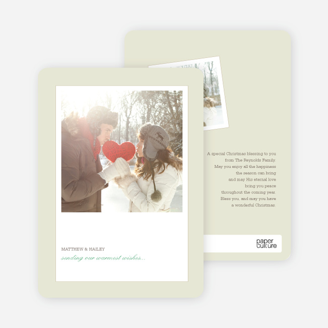 Instant Photo Inspired Holiday Photo Cards - Basil
