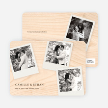 Instant Photo Save the Dates - Plywood