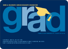 Pop Art Inspired Graduation Invitations - Navy