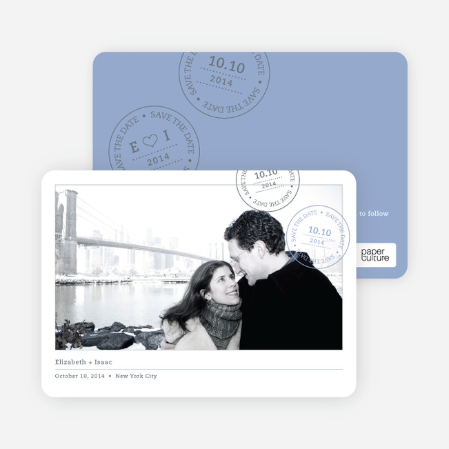 Postcard Inspired Save the Date Cards - Glacier
