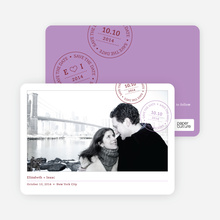Postcard Inspired Save the Date Cards - Wisteria