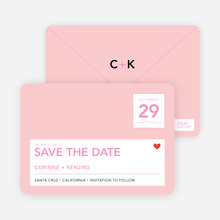 Save the Date Postcard - Baby Pink