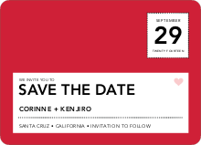 Save the Date Postcard - Tomato Red