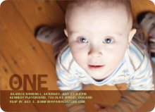Prince and Princess Photo Invitations - Coffee Brown