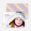 Rainbow Type Holiday Photo Cards - Lilac