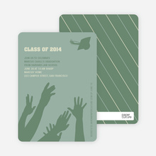 Reach for the Stars Graduation Announcement and Invitation - Olive Green