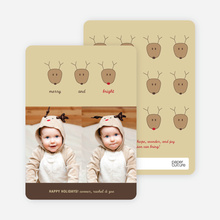 Reindeer Family Holiday Photo Card - Espresso