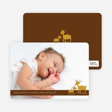 Reindeer Christmas Cards: Family Holidays - Espresso