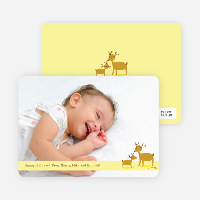 Reindeer Christmas Cards: Family Holidays - Daffodil