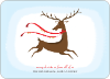 Reindeer Christmas Card - Tomato Red