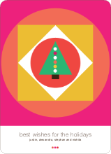Retro Modern Christmas Cards - Shocking Pink