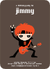 Rock Band Party Invitations - Red Rocker