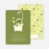 Rub a dub dub, a Hippo in the Tub Baby Shower Invitations - Bamboo