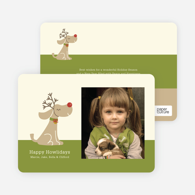 Rudy the Holiday Dog Holiday Photo Cards - Absinthe