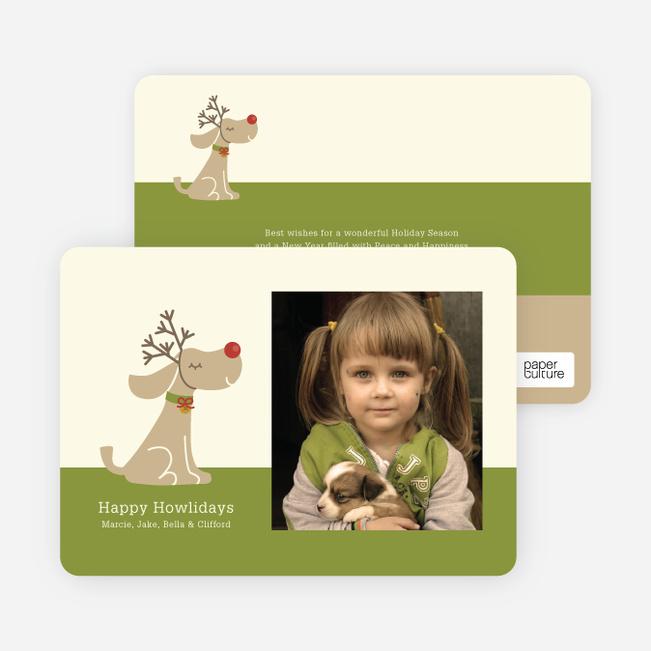Rudy the Holiday Dog Holiday Photo Cards - Absinthe