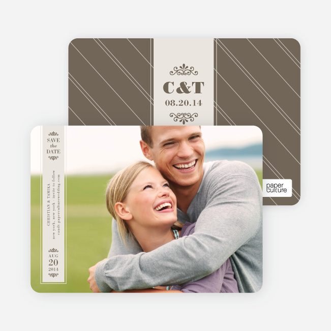 Save the Date Banner Cards - Eggshell