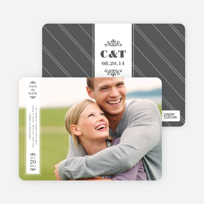Save the Date Banner Cards - White