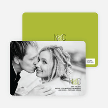 Save the Date Cards Featuring a Modern Ampersand Design - Chartreuse