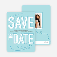 Save the Date Typography Union - Aqua Duck
