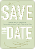 Save the Date Typography Union - Melon