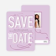 Save the Date Typography Union - Lilac