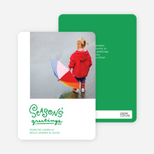 Season's Greetings Holiday Cards by the Script - Green