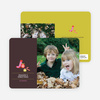 Season's Greetings Holiday Photo Card - Tomato Red
