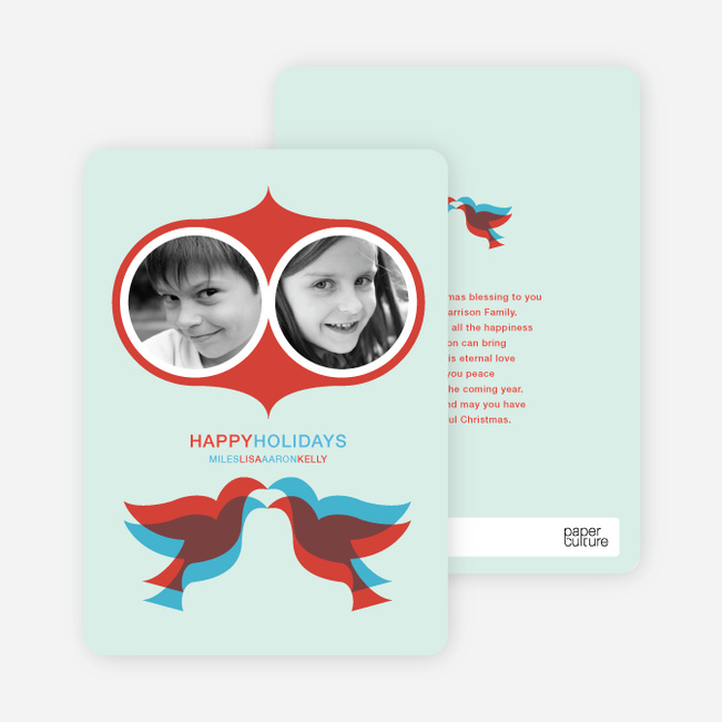 Seeing Double Holiday Cards - Tomato