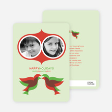 Seeing Double Holiday Cards - Apple Green
