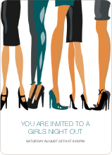 Sex and the City Party Invites - Teal