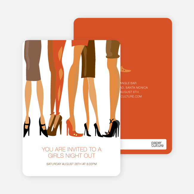 Sex in the City Party Invitations - Orange Spice