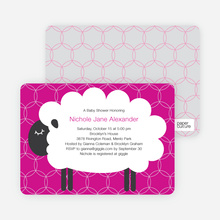 Sheep Baby Shower Invites - Fuchsia